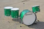 "Ludwig Classic Maple John Bonham Green Sparkle Kit 14"" 16"" 18"" & 26"" MAPLE4PCUSTOM"
