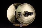 "Used Meinl 14"" Brass Marching Cymbals, Leather Handles UCYM104"