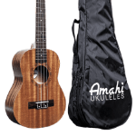 Amahi Penguin Soprano Mahogany Uke with bag PGUKMS