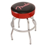 "Fender 24"" Barstool, Black with Red Sides and Fender Logo 0990205020"