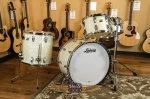 Ludwig Classic Maple Vintage White Marine Pearl Drum Set 12, 13, 16, 22, Tom Stand CMVWPDK2