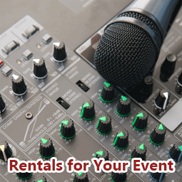 Concert, Events Instrument & PA Systems Rentals