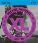 D'addario EXL120 Nickel Wound Electric (9 11 16 24 32 42)