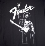 "Fender® Jimi Hendrix ""Peace Sign"" T-Shirt, Black, M 9101375406"