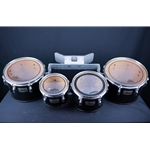 "Used Pearl 8, 10, 12, 13"" Quads in black UTOM58"