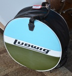 "New Ludwig Blue & Olive Badge Classic Heirloom Snare Bag 6.5"" x 14"" LX614BO"