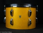 "1965 Ludwig Keystone 13"" Gold Sparkle Tom UDS6"