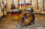 Vintage Ludwig Tivoli Tequila Sunrise 5 Piece Drum Kit UDS30