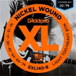 D'Addario EXL140 Light Top Heavy/Bottom 8-String Electric Guitar Strings EXL140-8