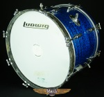 "Vintage Early 60's Rogers Holiday 20"" Bass Drum Cleveland Ohio Blue Onyx UDS25"