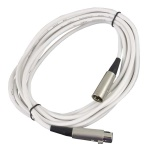 "Peavey 25"" White LoZ Microphone Cable 03011060"