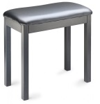 Stagg Piano Bench Metal - Black with black vinyl top PBF20