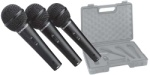 Behringer XM1800S Dynamic Cardioid Vocal Microphones, 3-Pack w/case