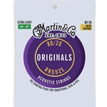 Martin Acoustic Guitar Strings 80/20 Bronze EXTRA LIGHT .010-.047 M170