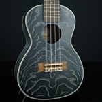 Amahi Quilted Ash Concert Uke - Black with bag C-25