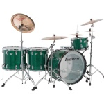 Ludwig Limited Edition 45th Anniversary Green Sparkle Vistalite Drum Set L94434LX75WC
