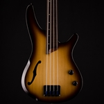 Ibanez SRH500 Fretless Bass in Natural Browned Burst Flat SRH500FNNF