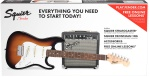 Squier Short Scale Strat Package - Sunburst  (Guitar & Amp) 0301812032
