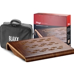 Stagg Blaxx Wood Pedal Board gig bag and tape included PDLBD