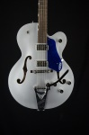 Gretsch G6118T-ISV Players Edition Anniversary Hollow Body, Iridium Silver