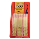 Rico Bass Clarinet Reeds 2 1/2 - 3 Pack REA0325