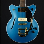 Gretsch G2655TG-P90 Streamliner Electric Guitar, Bigsby, Riviera Blue 2809400502