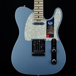 Fender American Elite Telecaster Electric Guitar, Tele, Satin Ice Blue Metallic, Hard Case 0114212783