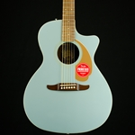 Fender Newporter Player Acoustic Electric Guitar, Ice Blue Satin 0970743062