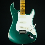 2019 Fender Custom Shop '56 Stratocaster Relic Sherwood Metallic Green Electric Guitar 9235001074