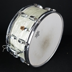 Vintage 1957 WFL Ludwig Symphonic Snare Drum, WMP, White Marine Pearl UWFL14SNARE