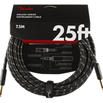 Fender Deluxe Series Instrument Cable, Straight/Straight, 25', Black Tweed 0990820075