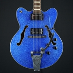 Ibanez AFD75T Artcore Electric Guitar, Blue Sparkle, Hard Case UIAFD75T