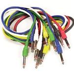 Peavey Pack of  Six - 3' Patch Cables - Colored 5457