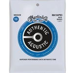 Martin M150 3 Pack Medium Acoustic Strings MA150PK3