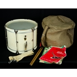 "Vintage Late 50's Ludwig WFL Transitional Badge Marching Parade Snare Drum 14"" x 10"", Bag, Strap UWHITEMARCHINGDRUM"