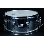 "80's Ludwig USA Rocker Black & White Badge 14"" x 6.5"" Wood Snare w/ Chrome Wrap UROCKERSNARE"