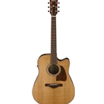 Ibanez Artwood Vintage Thermo Aged Series Acoustic Electric Guitar w/ Cutaway AVD9CENT