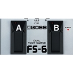 Boss BOSS's FS-6 combines latch- and momentary-type switching into one unit. FS6
