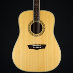 Used Washburn WD10S-LH Left Handed Acoustic, Hard Case UWD10SLH