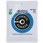 Martin 80/20 Bronze 10-47 Extra Light Acoustic Guitar Strings MA170PK3-U