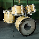 "Late 70's Ludwig ""Big Beat"" Butcher Block Drum Kit, 6 ply shells, B/O Badge ULBBK"
