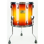 Used Pearl Masters Studio 14x14 Floor Tom Drum, Legs, Vintage Sunburst UPM1414