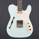 2019 Fender Limited Edition Two-Tone Thinline Telecaster, Ebony Fingerboard, Daphne Blue 0176203704