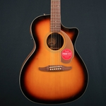 Fender Newporter PlayerAcoustic Electric Guitar, Walnut Fingerboard, Sunburst Sunburst 0970743003