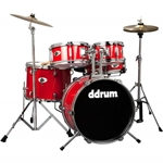 ddrum D1 Junior - Candy Red - Complete drum set with cymbals D1CRD