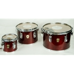 "Ludwig USA Set of 3 Classic Concert Toms - 6"" 8"" 10"", Wine Red Cherry Stain ULTOMS"
