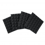 "Frameworks Four (4) Pack of 2""-Thick Acoustic Foam Pyramid Panels 12""x12"" – Charcoal Color GFW-ACPNL1212PCHA-4PK"