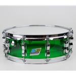 "1970's Ludwig Green Vistalite Snare Drum, 14"" x 5.5"" ISS17510"