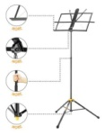 Hercules BS100B Wire Music Stand