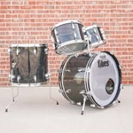 Used Ludwig 3 Piece 12/14/20 Classic maple Drum Set in Black Oyster Pearl UDK4